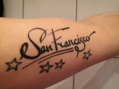 San Francisco tattoo with stars