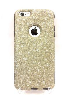 Custom iPhone Plus inch) Glitter Otterbox Commuter Cute Case, Bling, Sparkly Custom Glitter - White Gold / Black Color Iphone Cases Disney, Pretty Iphone Cases, Iphone 6 Cases, Iphone 6 Plus Case, Phone Covers, Cute Cases, Cute Phone Cases, Galaxy S3, Cute Diy
