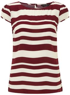 Colour: Wine red striped shirt