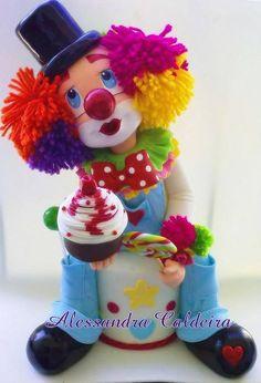 Clown Cake Topper