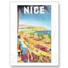 NICE france vintage poster