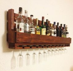 his wine rack from reclaimed wood is a perfect gift for men, birthday gift or a housewarming gift. It would look amazing in a cigar bar or next to your alcohol collection at home or office.  If you are a wine and whiskey lover, this is the perfect match for you!  This is another fabulous creative addition of Apt8 Ecodesign! has eight bottle, 7 glass and low balls wine rack is made from reclaimed pallets. This is a fabulous way to display your love for wine.  We are happy to take custom…