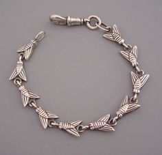 "DANISH sterling bee links bracelet marked ""HaH"" (Hans Hansen, 1884-1940)"