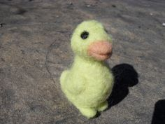 Needle Felted Easter Duckling by KrazyFeltFrenzy on Etsy, $12.00