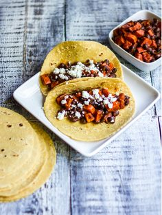 Roasted Sweet Potato Tacos with Black Beans and Goat Cheese | 21 Mouthwatering Taco Recipes You Need To Try
