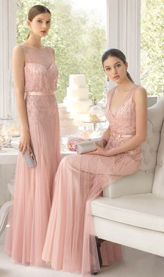 2016 Blush Pink Weddings_ Sequin Bridesmaid dress ideas by AireBarcelona iesta_AB_8U222_8U220_1.