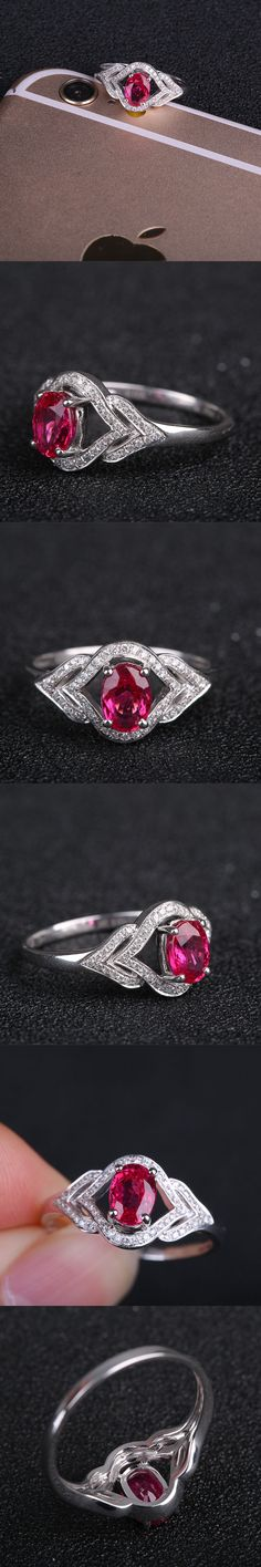 2017 Ruby Wedding Rings Rushed Limited Robira Au750 18k Gold Women Fashion Finger Rings 100% Natural Ruby Gemstone Jewelry Ring