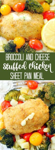 Simple Sheet Pan Meal with Barber Foods Broccoli and Cheese Chicken - Foodtastic Mom Best Chicken Recipes, Meat Recipes, Healthy Recipes, Chicken Meals, Turkey Recipes, Healthy Foods, Barber Foods, Homemade Fried Chicken, Cheese Stuffed Chicken