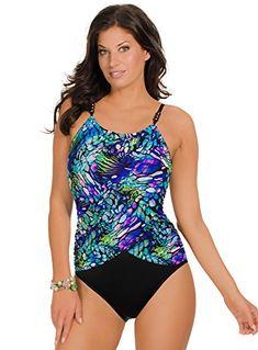 1c7f2ab622 Magicsuit Women s Papillon One Piece High Neck Swimsuit Multi 12