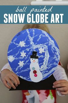 Ball Painted Snow Globe Craft - fun winter art activity for kids!