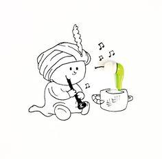 Encantador de cobra + fone de ouvido |  by Wannelle | instagram (wannelle)