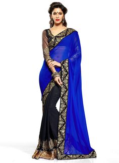 Black & Blue Saree