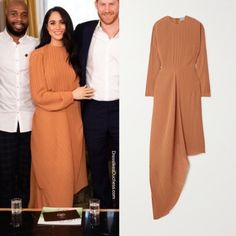 Meghan Markle Wears Preen by Thornton Bregazzi Glenda Dress for Youth Leaders Meeting - Dress Like A Duchess Estilo Meghan Markle, Meghan Markle Style, Meghan Markle Outfits, Glenda, Modest Fashion, Fashion Outfits, Youth Leader, Prinz Harry, Estilo Real