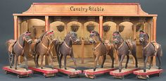 Toy, Cavalry Stable Late Nineteenth To Early Twentieth Century