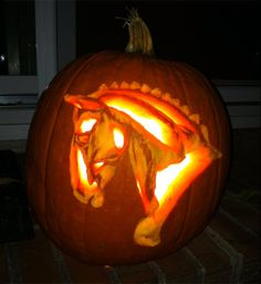 Dressage Horse from the 2012 this old house Pumpkin-Carving Contest Winners gallery