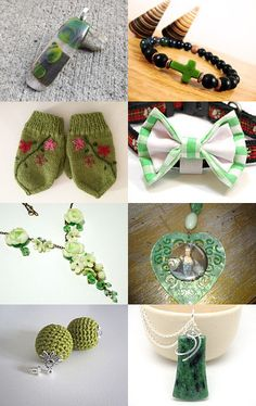GREEN by Oksana Linnell on Etsy--Pinned with TreasuryPin.com #green #handmade #etsy