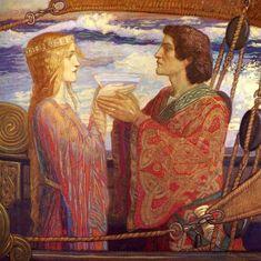 """""""Tristan and Isolde"""" by Herbert James Draper"""