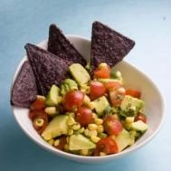 The best things in life are simple - including this avocado dip loaded with colorful, fresh ingredients!