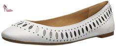 Nine West Annya Femmes US 10 Blanc Chaussure Plate - Chaussures nine west (*Partner-Link)