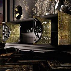 Aparadores de Diseño © Modernos y Clásicos【 100% CALIDAD 】 Tv Cabinet Design, Dinner Room, Modern Furniture Online, Office Reception, Luxury Living, Decoration, Metal Art, Living Room Designs, Improve Yourself