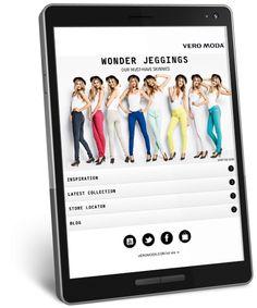Coversion driven mobile proof webshop. Vero Moda