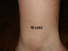I like this. Birthday copyright tattoo More