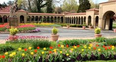 Franciscan Monastery of the Holy Land garden. While visitors may not enter the friary, they are welcome to stroll the cloisters, and visit replicas of Holy Land shrines and gorgeous domed Blessed Sacrament chapel. All are welcome; there is no charge for admission.
