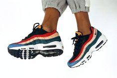 Trendy Ideas For Women's Sneakers : Nike Air Max 95 Premium WMNS (Dark Cayenne/Rio Teal). Nike Air Max, Air Max 95, Nike Free Shoes, Nike Shoes, Women's Shoes, Air Max Sneakers, Sneakers Nike, Baskets Nike, Me Too Shoes