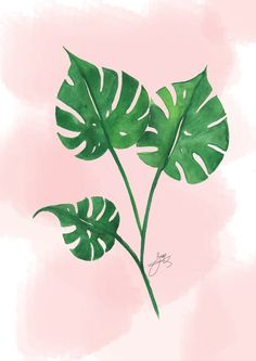 Create a beautiful watercolor tropical leaf by following the step by step instructions in today's post. Also get is as a free printable wall art!