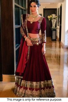 Buy online maroon colored bridal lehenga choli at lowest price. This bridal lehenga choli is prettified with attractive patterns of lace and stone. Indian Bridal Wear, Indian Wedding Outfits, Bridal Outfits, Indian Outfits, Bridal Dresses, Indian Wedding Bride, Indian Weddings, Indian Wear, Bollywood Lehenga