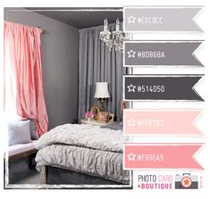 This reminds me of my high school color obsession with pink and grey. This palette modernizes it.