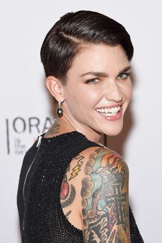 Got a heart-shaped face? Try Ruby Rose's hair style!