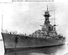 HMS Hood in the Panama Canal Zone July 1924 Hms Hood, Marina Real, Hms Prince Of Wales, Capital Ship, Merchant Marine, Panama Canal, United States Navy, Navy Ships, Submarines