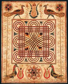 Labyrinth.  Heinrich Seiler (dates unknown);  Probably Lebanon or Dauphin County, Pennsylvania;  c. 1820;  Watercolor and ink on paper;  14 3/4 x 12 1/8 in.  (www.folkartmuseum.org)