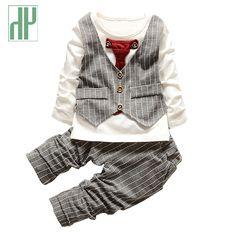 4be64de75 roupas infantis menino conjunto roupa de menino moda criança menina  primavera criança roupas infantis conjunto crianças Formal cavalheiro  gravata stripe ...
