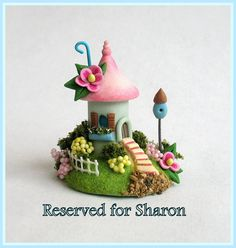 Miniature Fairy Blossom House Colony OOAK by by ArtisticSpirit