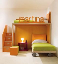 What do you think of this little set-up? It's from an Italian place known as Dear Kids. They do the most desirable, solid furniture in the sorts of colours that only the Europeans ever seem to produce with any consistency, and they also sell what they call 'settings', ie an interior for an entire room.