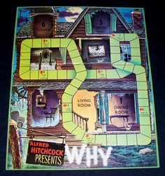 Why | Image | BoardGameGeek Classic Board Games, Alfred Hitchcock, Mystery, Tower, Boards, Mansions, Illustration, Image, Planks