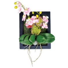 http://www.cheapaschips.com/products/art-and-craft/artificial-flowers/product/wall-mounted-orchid-plant-deco-25x30x5cm-2asst-clrs-pink-purple-in-black-frame/