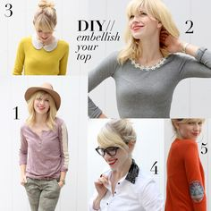 Singer Songwriter Brooke White of The Girls with Glasses shows how 5 easy DIY's to embellish your tops this season.