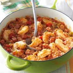 Creole Jambalaya Recipe from Taste of Home  #Mardi_Gras