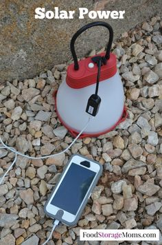 Would you like to be able to power up your cell phone with solar? I need a way to charge my cell phone & have some light when its dark using solar power Used Cell Phones, Cell Phone Stand, Cell Phone Covers, Cell Phone Holder, Phone Charger, Emergency Preparation, Survival Prepping, Emergency Preparedness, Doomsday Prepping