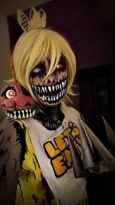 ''Was it me?'' Nightmare Chica cosplay by HazyCosplayer Holy fuck, awesome