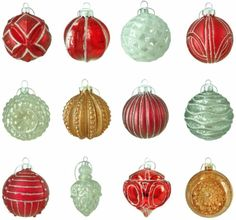 Winter Tidings Assortment Holiday Glass Ornament Christmas Tree Decor (12-Count) #Ornament #ChristmasOrnament #Christmas #ChristmasTreeDecor #TreeDecor #Decor #ChristmasDecor #ChristmasOrnamentDecor #Winter #Glass #Holiday