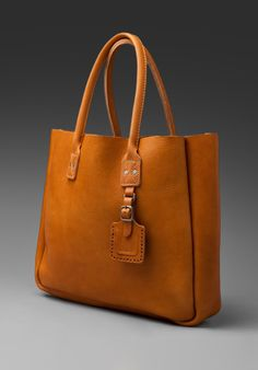 BILLYKIRK Leather Tote with Luggage Tag in Tan at Revolve Clothing