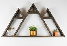 Wasatch Mountain Geometric Shelf