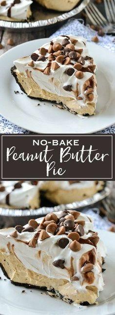 No-Bake Peanut Butter Pie | www.motherthyme.com