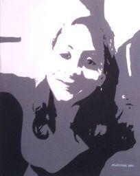 """""""Edwina""""  16""""x20"""" Custom hand painted acrylic on canvas. www.ArtByLatiolais.com"""