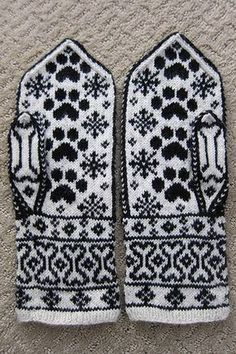 Mittens Pattern, Dog Pattern, Knit Mittens, Knitted Gloves, Knitting Socks, Fair Isle Knitting Patterns, Knitting Charts, Crochet Patterns, Yarn Projects