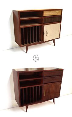 Vinyl Cabinet Vinyl Record Cabinet, Record Player Cabinet, Vinyl Record Storage, Hifi Stand, Tv Stand With Storage, Audio Room, Mid Century Decor, Mid Century Modern Design, Furniture Design